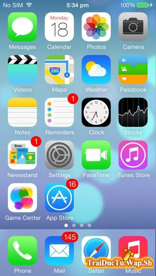 Theme iOS 7.1 iPhone 5S Cho Điện Thoại S40