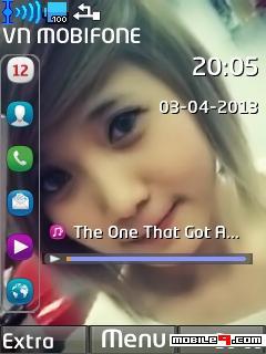 Theme s40 Theme Cute Girl Kết Hợp Iphone Cực Đẹp Cho Anh Em Đây